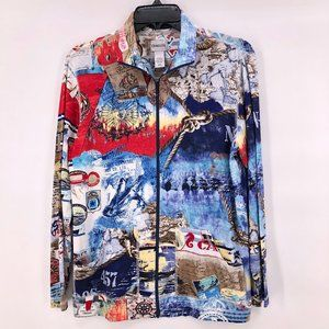 NWOT Chico's light weight nautical print jacket